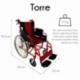 Fauteuil roulant léger VIP | Freins sur leviers et roues | pliable | aluminium | Torre | Mobiclinic - Foto 2