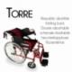 Fauteuil roulant léger VIP | Freins sur leviers et roues | pliable | aluminium | Torre | Mobiclinic - Foto 3