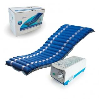 Matelas anti escarre pour lit médicalisé | À air alterné | Avec compresseur | Bleu | Deluxe | Mobi 2 | Mobiclinic