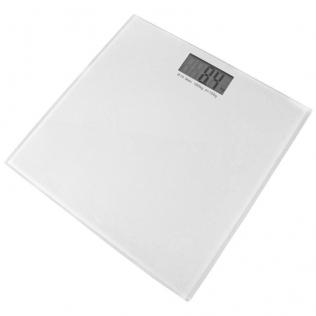 Pèse-personne électronique en verre trempé   Balance numérique   Produit phare   Design moderne et discret   Blanc   Mobiclinic