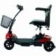 Scooter électrique pour seniors | 4 roues | Compact et démontable | Auton. 10 km | 12V | Rouge | Virgo | Mobiclinic - Foto 1