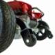 Scooter électrique pour seniors | 4 roues | Compact et démontable | Auton. 10 km | 12V | Rouge | Virgo | Mobiclinic - Foto 7