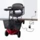 Scooter électrique pour seniors | 4 roues | Compact et démontable | Auton. 10 km | 12V | Rouge | Virgo | Mobiclinic - Foto 10