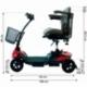 Scooter électrique pour seniors | 4 roues | Compact et démontable | Auton. 10 km | 12V | Rouge | Virgo | Mobiclinic - Foto 11