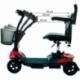 Scooter électrique pour seniors | 4 roues | Compact et démontable | Auton. 10 km | 12V | Rouge | Virgo | Mobiclinic - Foto 12