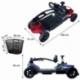 Scooter électrique pour seniors | 4 roues | Compact et démontable | Auton. 10 km | 12V | Rouge | Virgo | Mobiclinic - Foto 15