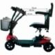 Scooter électrique pour seniors | 4 roues | Compact et démontable | Auton. 10 km | 12V | Rouge | Virgo | Mobiclinic - Foto 16