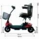 Scooter électrique pour seniors | 4 roues | Compact et démontable | Auton. 10 km | 12V | Rouge | Virgo | Mobiclinic - Foto 17