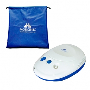 Mini nébuliseur avec compresseur   Blanc et Bleu   Neb-1   Mobiclinic
