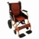 Fauteuil roulant léger | Repose-pieds et dossier | Accoudoirs rembourrés | Aluminium | Orange | Pirámide | Mobiclinic - Foto 1