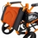 Fauteuil roulant léger | Repose-pieds et dossier | Accoudoirs rembourrés | Aluminium | Orange | Pirámide | Mobiclinic - Foto 9
