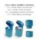 Pilulier, broyeur et séparateur de comprimés | 3 produits en 1 | Bleu | Mobiclinic - Foto 2