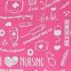 Organiseur / pochette d'infirmier | Rose à motifs | MINIKEEN'S | Mobiclinic - Foto 8