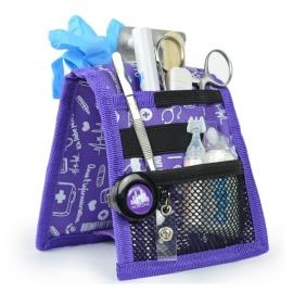 Organiseur de matériel infirmier pour blouse | Violet à motifs | Keen's de Mobiclinic | Elite Bags