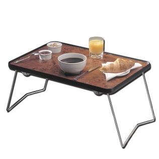 Table basse de lit pliable | Couleur bois hêtre | Table auxiliaire | 40 x 60 cm