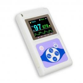 Oxymètre de pouls numérique pour doigt | Avec écran OLED, fréquence cardiaque et onde plestimographique | Blanc | Mobiclinic