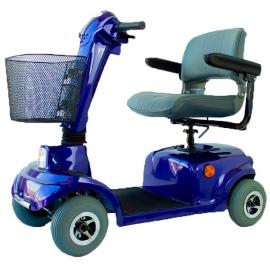 Scooter électrique à 4 roues | Siège pivotant et pliable | Auton. 34 km | 12V | Bleu | Piscis | Mobiclinic