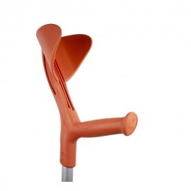 Béquille orthopédique pour la marche | Réglable en hauteur, poignée ergonomique | Aluminium | Orange | Evolution Fun