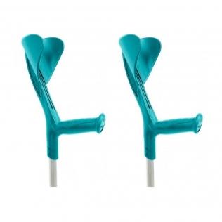 Béquilles 2 unités | En aluminium léger | Couleur vert | Evolution