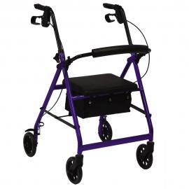 Déambulateur orthopédique pliable   4 roues et freins   Panier et siège   Réglable en hauteur