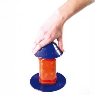 Ouvre-bocaux antidérapant pour l'ouverture et la fermeture de contenants | Dycem | Bleu | Mobiclinic