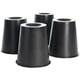 Cônes élévateurs pour lits et chaises | 4 unités | 15 x 7 x 15 cm | Mobiclinic