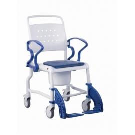 Chaise de douche et toilettes | Fauteuil roulant pour douche avec cadre de toilettes | Repose-pieds et accoudoirs rabattables