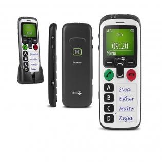 Téléphone portable intuitif avec fonction d'alerte | Bouton d'urgence à accès rapide | Localisateur GPS | Secure 580 | Doro