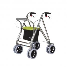 Déambulateur à 4 roues pliable   Déambulateur avec siège et panier   Freins   Vert pistache   Mod. Kanguro Plus