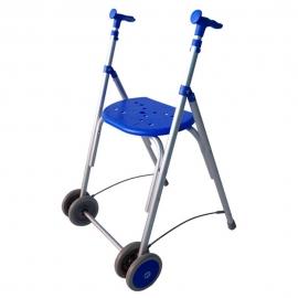 Déambulateur à deux roues pliable | Rollator réglable en hauteur | Couleur Bleu | Aluminium | Mod. Kamaleón