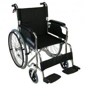 Fauteuil roulant pliable DELUXE | Léger | Accoudoirs et repose-pieds fixes | Orthopédique | Aluminium | Palacio | Mobiclinic
