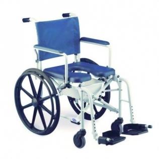 Fauteuil roulant de douche avec toilettes | Chaise WC à roulettes | Accoudoirs et repose-pieds | Lima
