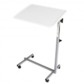 Table de lit à roulettes | Table d'appoint avec roulettes pour lit et canapé | Couleur grise