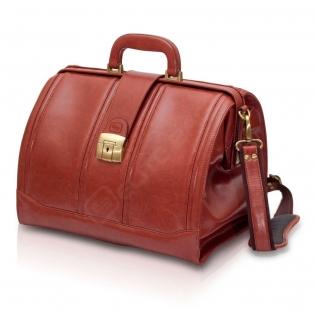 Mallette en cuir brun pour les visites médicales | Modèle DOC'S | Elite Bags
