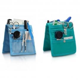 Pack de 2 pochettes d'infirmier pour blouse   Vert et bleu   Keen's   Elite Bags