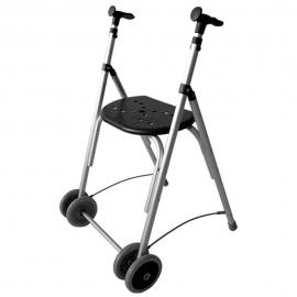 Déambulateur à deux roues pliable | Rollator réglable en hauteur | Couleur Noir | Aluminium | Mod. Kamaleón
