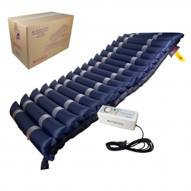 Matelas anti-escarres pour lit médicalisé | À pression alternée | Avec compresseur | Bleu | Mobi 3 | Mobiclinic