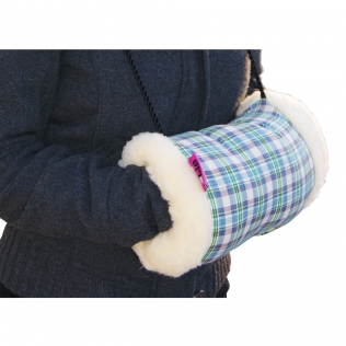 Manchon thermique chauffe-mains | une unité | À carreaux | 33 x 17 cm