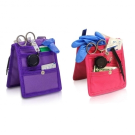 Pack de 2 pochettes d'infirmier pour blouse   Violet et rose   Keen's   Elite Bags