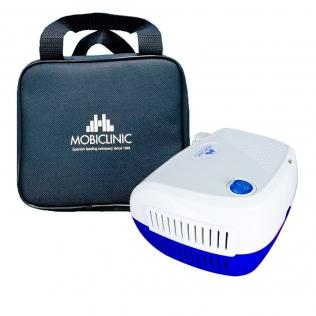 Nébuliseur avec compresseur   Mini   Blanc et Bleu   Neb-2   Mobiclinic