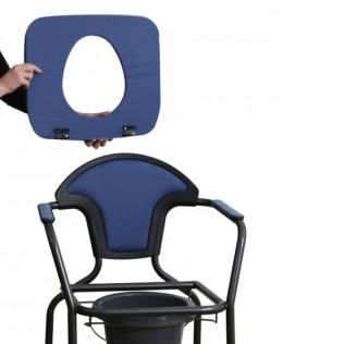 Chaise percée/WC| Portable | Bleu