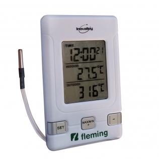 Thermomètre digital intérieur/extérieur | double écran LCD | 1 pile AAA