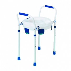 Elévateur de toilettes   Chaise WC   Pieds réglables   Accoudoirs   Max 150 kg