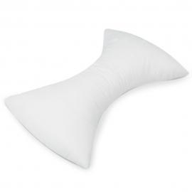 Oreiller cervical en forme de papillon | Apaise les douleurs musculaires | Fait en coton | Couleur : blanc