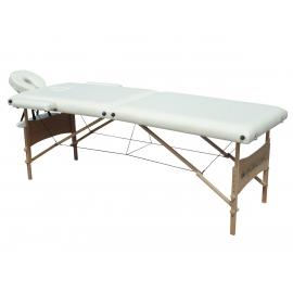 Table de massage pliante   Kinesithérapie   Bois   Revêtement similicuir   186x60 cm   Crème   CM-01 Light   Mobiclinic