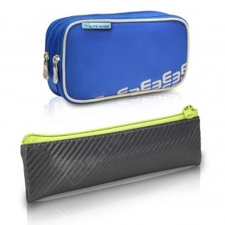 Pack de sac isotherme et trousse | Polyester, fibre de carbone | gris et citron vert | Dia's e Insulin´s | Elite Bags