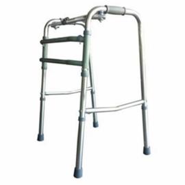 Déambulateur pour personnes âgées | Sans roues | Aluminium ultra léger | Réglable et Pliable | Argenté | Mezquita | Mobiclinic