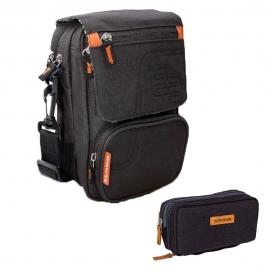 Pack trousse et sacoche pour diabétiques   Noir   Trousse isotherme Diabetic's   Sacoche isotherme FIT'S   Elite Bags