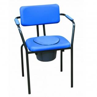 Chaise percée avec dossier | Chaise WC avec couvercle | Bleu | Ocean
