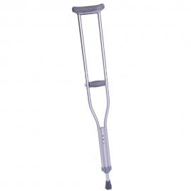 Béquilles auxiliaire | 1 unité | Faite en aluminium résistent | Pour jeune entre 93 et 113 cm | Réglable en hauteur